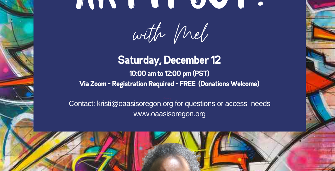Join us! Art it Out on Dec 12th!